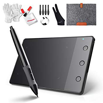 Huion H420 Tableta Gráfica Digitalizadora Tableta de Dibujo de Gráficos Pad con Pluma Digital Inalámbrica 10.1 x 5.6 cm compatible con Windows y Mac
