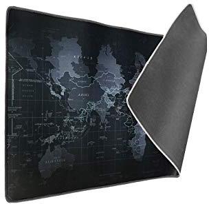 Vicloon Alfombrilla Raton Gaming Grandes World Map Mouse Pad XXL 900x400x3 mm,Impermeable con Base de Goma Antideslizante,Special-Textured Superficie para Gamers Ordenador, PC y Laptop