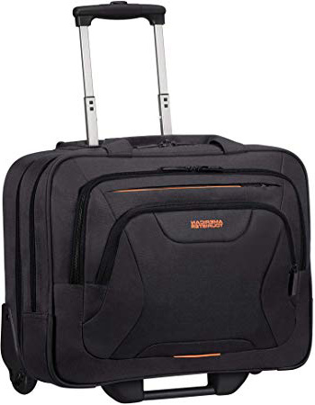 American Tourister At Work Trolley para portátil 44 Centimeters 22 Negro (Black/Orange)