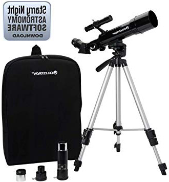 color negro Celestron Travel Scope 70 Telescopio portable con ampliaci/ón de 20x longitud focal 40 cm abertura de 70 mm