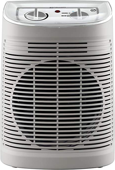 Rowenta Calefactor SO6510F2 Comfort Aqua, Color Blanco, 2400W, 2400 W, Acero Inoxidable, Beige